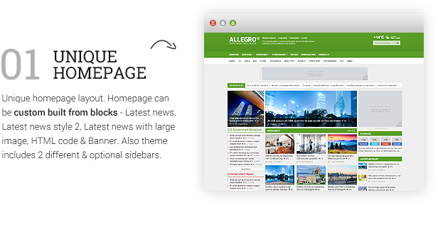 Allegro - Multipurpose News, Magazine Theme