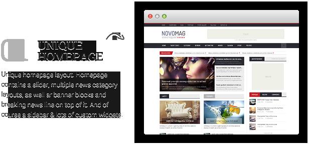 Novomag - Clean & Flat Magazine